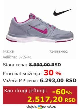 Nike ženske Patike Cena Na Akciji Planeta Sport S97653