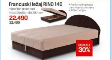 Francuski Ležaj Rino 140 Cena Na Akciji Forma Ideale S111007