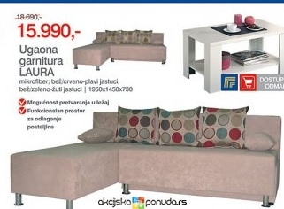 Nameštaj > Nameštaj za kuću > Forma Ideale - Ugaona garnitura LAURA